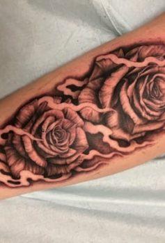 ブラック&グレー 薔薇 花