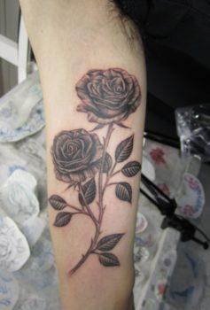 ブラック&グレー バラ