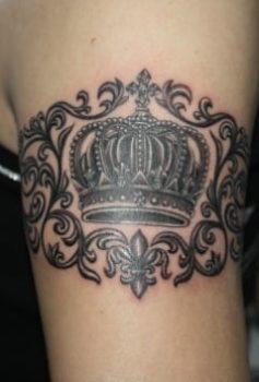 ブラック&グレー 王冠・crown