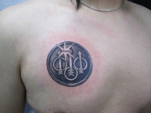 ブラック&グレー ベレッタ社 ロゴ