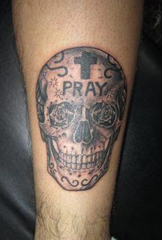 ブラック&グレー スカル・Skull ・頭蓋骨