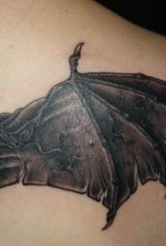 ブラック&グレー コウモリの羽
