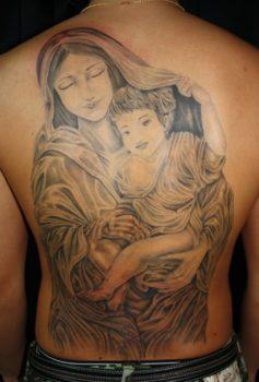 ブラック&グレー 聖母子像・マリア・キリスト