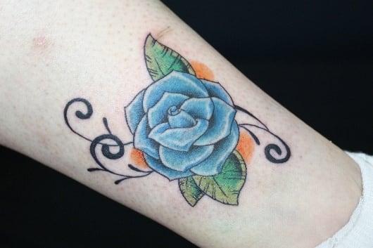 カラー 青いバラ 薔薇 rose