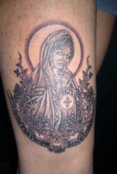 ブラック&グレー 聖母マリア・ロザリオ