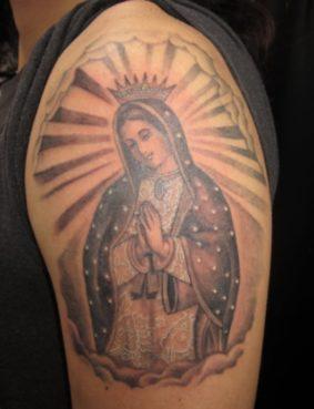 ブラック&グレー グアダルーペの聖母 マリア