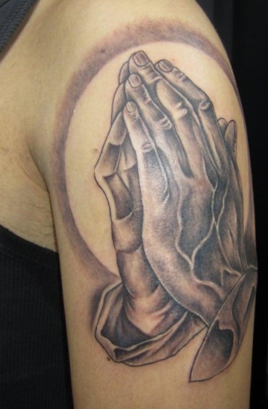 ブラック&グレー プレイハンド Praying hands