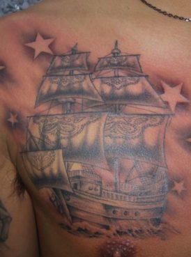 ブラック&グレー 船 ship
