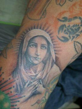 ブラック&グレー 聖母マリア