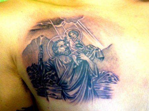 ブラック&グレー 聖クリストフォロス