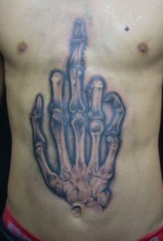 ブラック&グレー スカルハンド skullhand ハンドサイン
