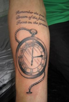 ブラック&グレー 懐中時計