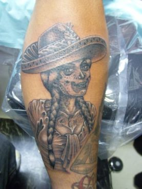 ブラック&グレー mexican girl