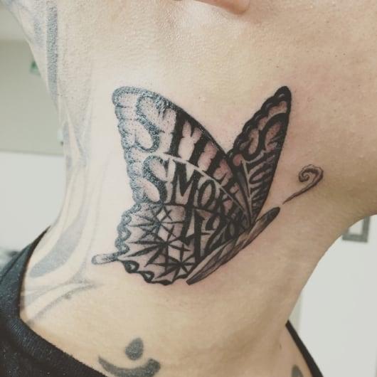 ブラック&グレー weed butterfly