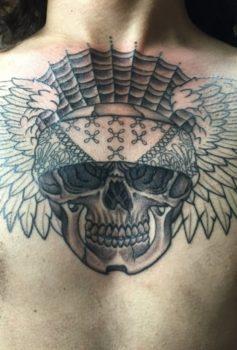 ブラック&グレー vato skull
