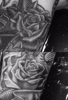ブラック&グレー バラ roses