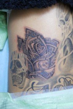 ブラック&グレー マネーローズ money rose
