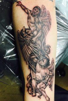 ブラック&グレー 持ち込みデザイン 天使 angel