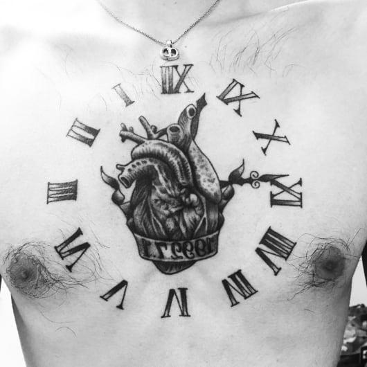 ブラック&グレー heart 心臓
