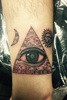 ブラック&グレー プロビデンスの目 providence eye