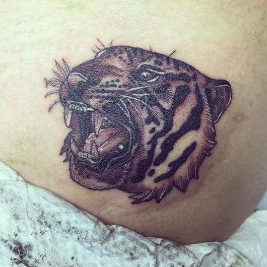 ブラック&グレー 虎 tiger black and grey