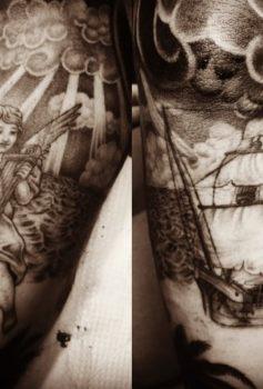 ブラック&グレー 天使 船 ANGEL SHIP