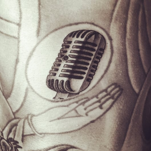 ブラック&グレー マイク microphon