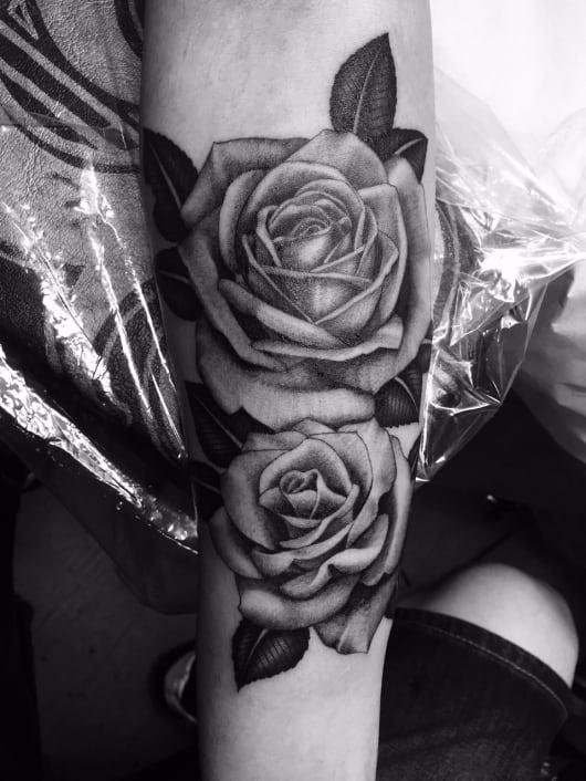 ブラック&グレー rose バラ