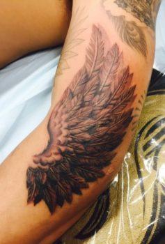 ブラック&グレー 羽根 wing