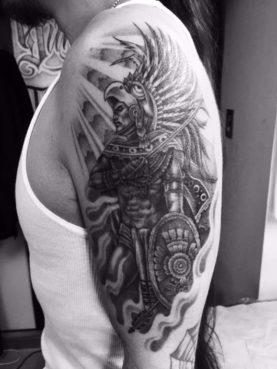 ブラック&グレー アステカ戦士 azteca warrior
