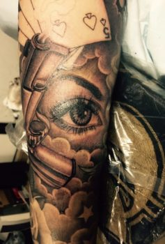ブラック&グレー 目 eye