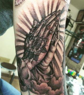 ブラック&グレー プレイハンド prayinghands