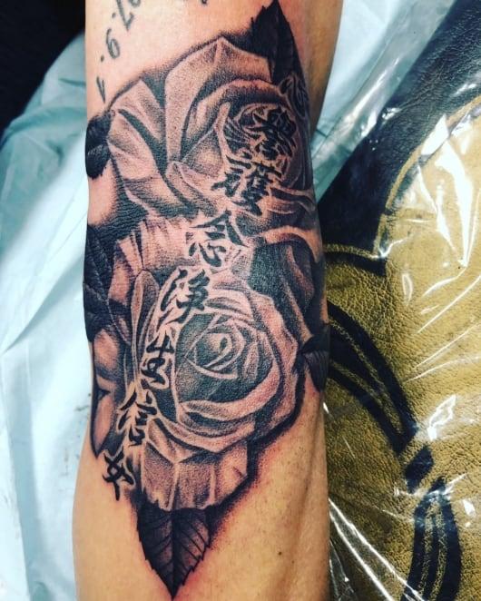 ブラック&グレー 薔薇 バラ rose