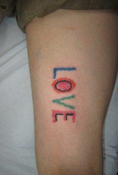 メッセージ レタリング LOVE