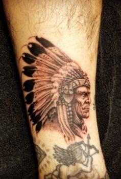ブラック&グレー インディアン