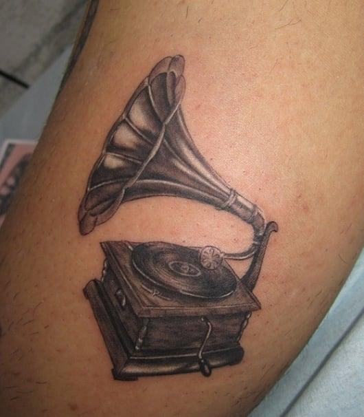 ブラック&グレー 蓄音機