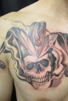 ブラック&グレー スーサイド・スクワッド ジョーカー タトゥー