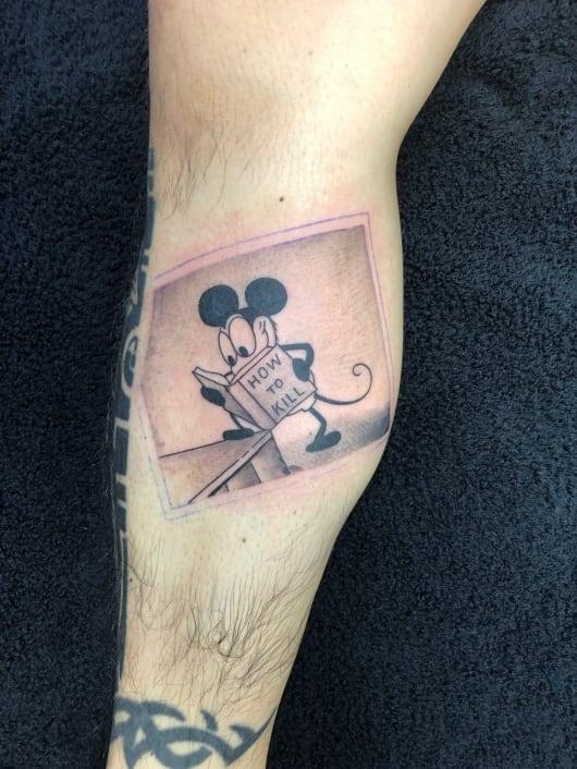 ブラック&グレー ミッキーマウス