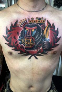 コナーマクレガーをイメージしたマンドリルのタトゥー